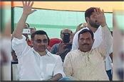 sunny deol campaigning for bjp candidate captain abhimanyu in hisar