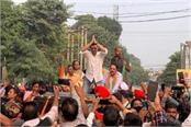 sunny deol did road show in support of bjp candidate