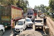 traffic jam on chandigarh manali nh