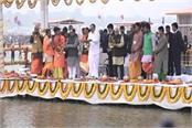 vice president did ganga worship in prayagraj