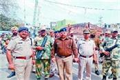 march in the wake of lok sabha elections in the city