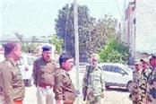 police and paramilitary forces released flag marches on lok sabha elections