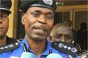 nigerian policemen crushed the crowd in easter celebration