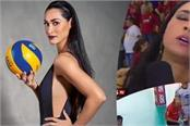 volleyball player jaqueline faints mid way through live tv interview
