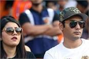 anam mirza again seen with this cricketer in srh v kkr match