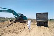 gmada raising soil from plots sold in sector 88 89