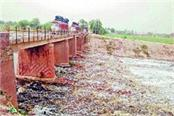 the water of rains was spread in the ghaggar river