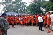 first monday savan first day pavilions rows baba vaidyanath dham