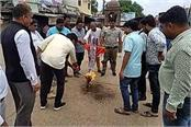 youth congress blast up cm s effigy