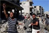 russian air strikes in syria kill 27 people