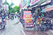 cantonment markets footpaths and residential areas in the grip of encroachment