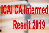 icai ca intermediate result 2019 will released soon