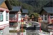 china s media show new bhutan border village built in disputed territory
