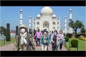 taj mahal news tourists crowd on saturday sunday as