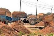 raid in giridih against illegal sand mining sand laden 9 tractor seized
