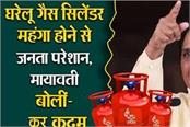 non subsidized domestic gas cylinders become expensive mayawati