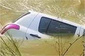 in an attempt to save the animal the car fell into the canal