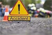 husband dies due to collision of canter wife injured
