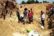 12 tribal women buried in quarry 2 confirmed dead many injured