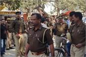 ghazipur police lathi charged police workers on strike