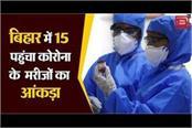 corona patients figure reached 15 in bihar