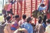 one and a half thousand people returned from lakhanpur border
