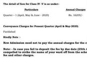 private school issued notice to deposit fees