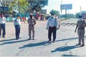 police personnel posted at the points will undergo health test
