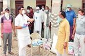 the mla distributed masks sanitizers and flour in the town