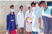 helping hands held the hands of poor needy in times of trouble