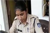 lockdown corona virus woman police constable mask