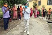 mla distributed masks sanitizers fruits and juices