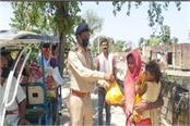 asi distributed food items among the poor