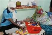 in meerut the woman named the twins quarantine and sanitizer