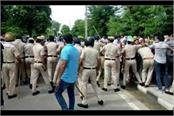 police lathi charged pti teachers who are protesting in jind