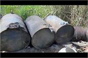 large quantities of iron recovered from the beas river