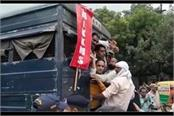 rail roko campaign failed in mp heavy police force deployed