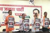 bjp released black paper in rajasthan