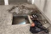 thieves breach all haryana grameen bank cut the roof