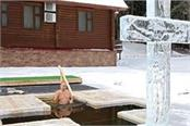 russian president putin bath in icy water