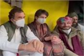 rahul priyanka meet congress mps on strike against agricultural laws