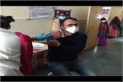 corona vaccination in virpur primary health center