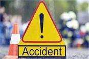 tragic death of 2 young men in a scooty and car collision