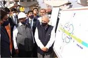 nitin gadkari inspected dwarka expressway