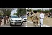 bjp mla s car rammed into cm yogi s convoy police stopped challan of 5500