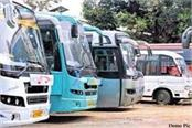 private buses will not run in himachal from today