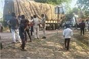 horrific road accident two trucks clashed face to face 2 killed and 2 injured