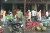 charkhi dadri red cross volunteers made people aware in the vegetable market