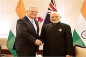 pm modi spoke to the australian prime minister over the phone