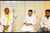 former minister omprakash rajbhar met aap mp sanjay singh